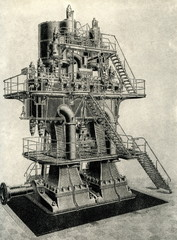1460 kW triple-expansion steam engine (Borsig, 1900)