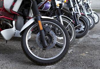 wheels of motorcycles