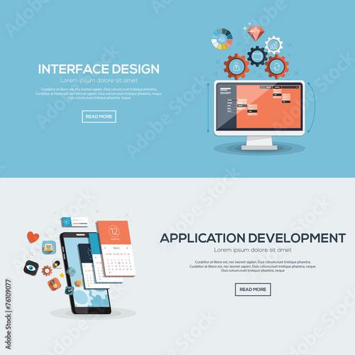 Fototapeta Flat design illustration concept