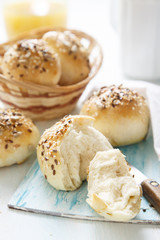 Breakfast buns with seeds