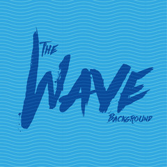 Wave background blue vector