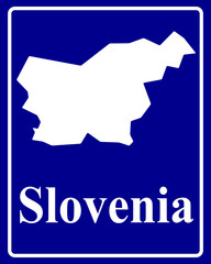 silhouette map of Slovenia