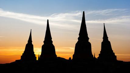 Old temple on twilight