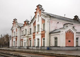 Bus station in Kineshma. Ivanovo region. Russia