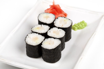 Sushi roll with crab.