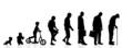 Vector silhouette generation men. - 76110424