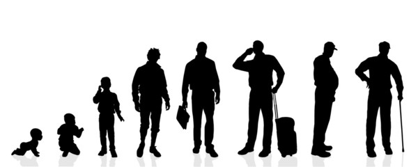 Vector silhouette generation men.