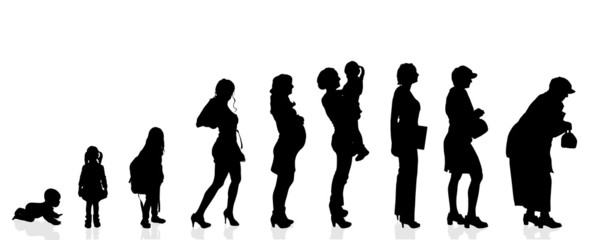 Vector silhouette generation women.