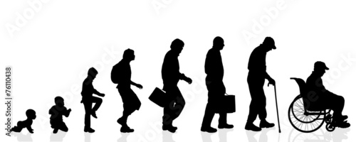 Vector silhouette generation men. - 76110438
