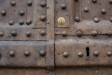 Dettaglio porta, serratura, battenti, sicurezza
