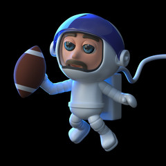 3d Astronaut plays football in space