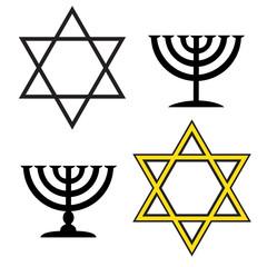 Vector image of a Jewish.