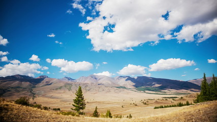 Landscape and Clouds,  Mountains of the Altai Republic