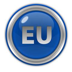 EU circular icon on white background