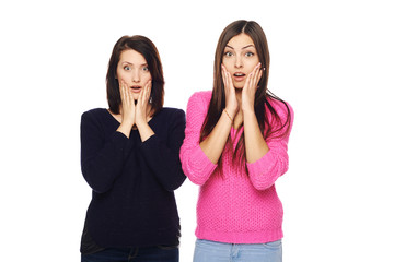 Two surprised girls