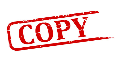 Red stamp with the word copy - vector svg