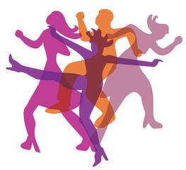 Disco party dancers