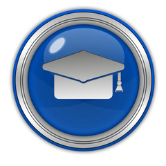 Graduation circular icon on white background
