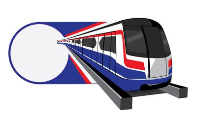 Bangkok skytrain vector icon