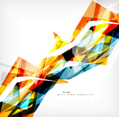 Angular geometric color shapes