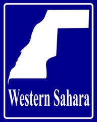 silhouette map of Western Sahara