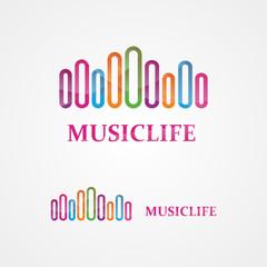 Music vector design template