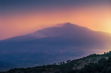Etna, before the night,Sicily ,Italy.