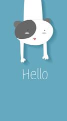 Dog says Hello  / Banne