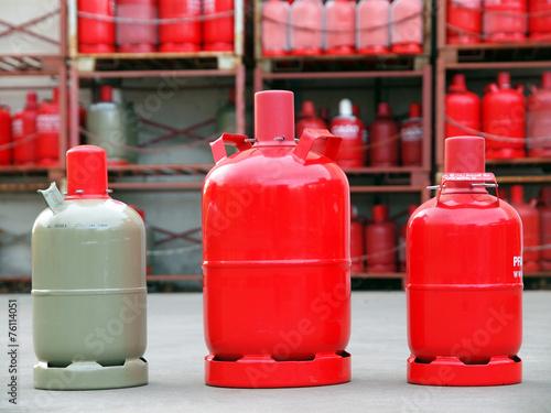 Leinwandbild Motiv Gasverkauf