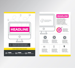 Vector Business Brochure Flyer design Layout template / A4 Size