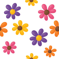 Seamless flower background.