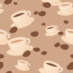 Seamless coffee bean background.