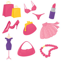 Girly Accessory Icons