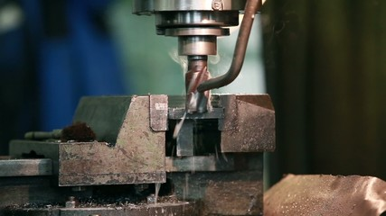 milling machine in action