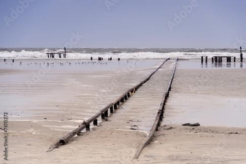 Leinwanddruck Bild Beach of Amrum