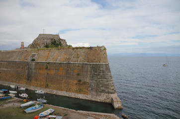 Fort of ancient fortress. Corfu, Greece