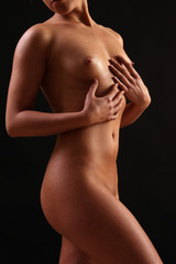 naked girl with beautiful big breasts