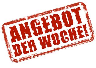 ANGEBOT DER WOCHE!, Stempeleffekt rot