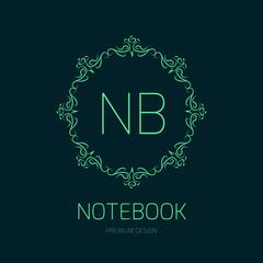 Elegant logo design for notebook