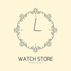 Elegant logo design for watch store