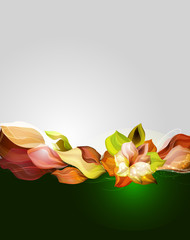 Awesome vector flower
