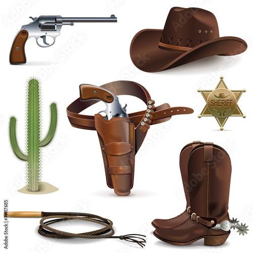 Vector Cowboy Icons
