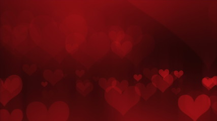 defocused abstract hearts background (looping)