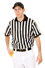 Referee: Serious Ref with Penalty Flag