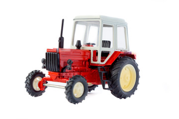 Toy tractor isolated model
