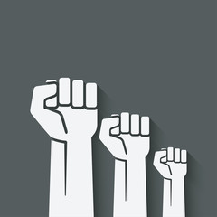 fist independence symbol