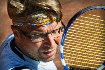 Tennisplayer during match
