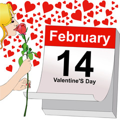 February 14, a rose for Valentine's Day