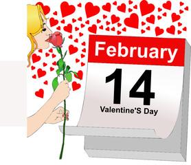 14 febbraio, una rosa per San Valentino
