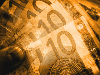 goldene Geldscheine